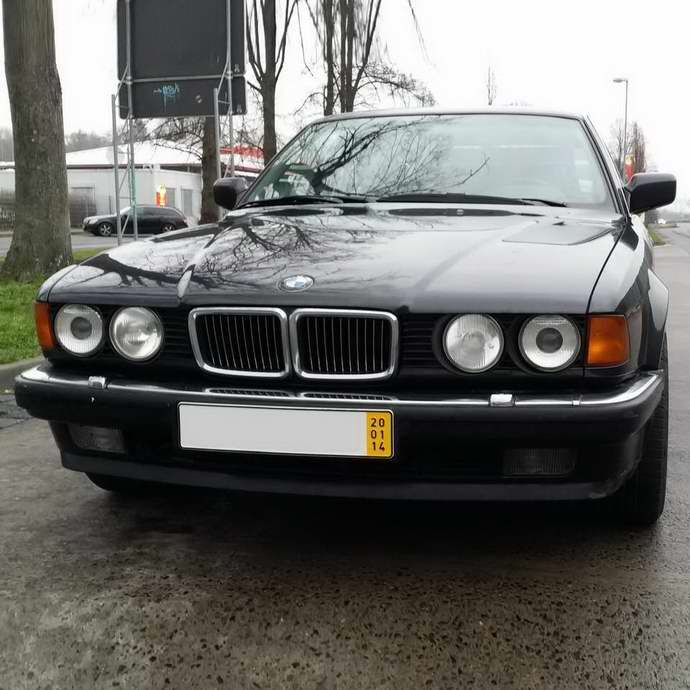 БМВ Е32 750i М70 АКПП 1992 Diamantschwarz Metallic