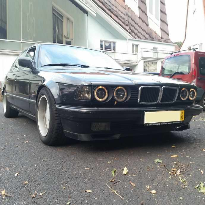БМВ Е32 740i М60 АКПП 1993 Diamantschwarz Metallic